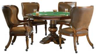 Oak Dining Chair Waverly Place Reversible Top Poker Table Traditional