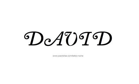 david name tattoo designs david name designs