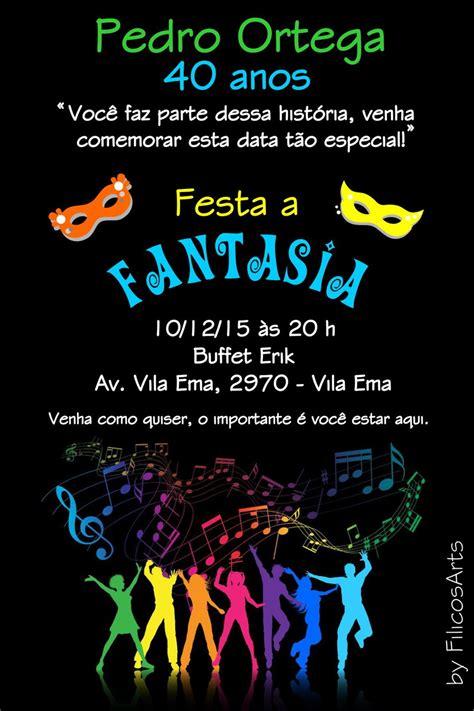 Modelo De Convite Para Festa Convite Festa A Fantasia Convite Festa A Fantasia Filicosarts Elo7