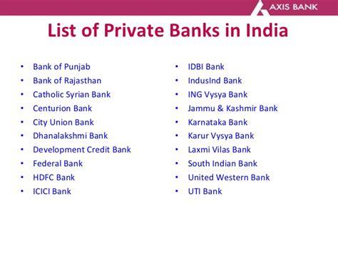 list of banks axis bank