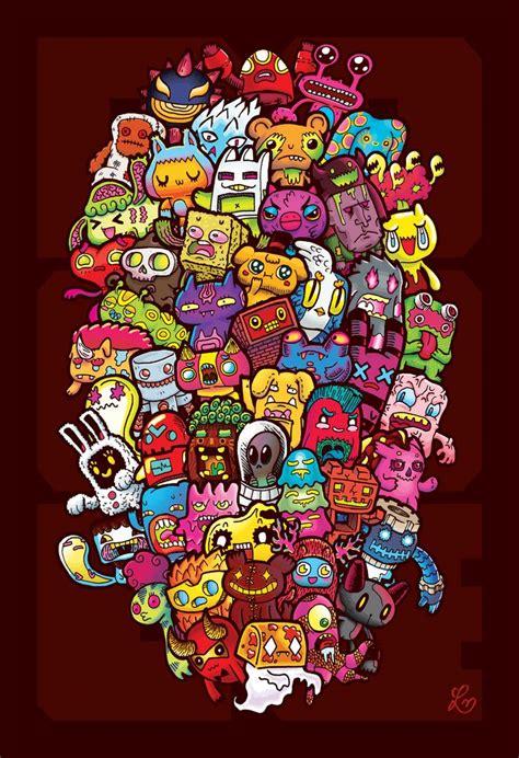 doodle 9 in 1 doodles 50 monsters by melendres deviantart