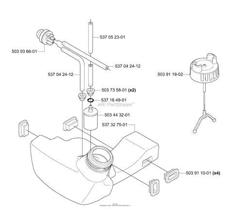 husqvarna  ls   parts diagram  fuel tank