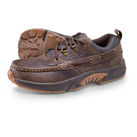 mens rugged shoes s rugged shark 174 courier low shoes brown 281644 casual shoes at sportsman s guide