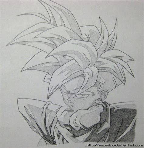 Z Sketches by Gohan Ssj Sketch 1 By Esperino On Deviantart