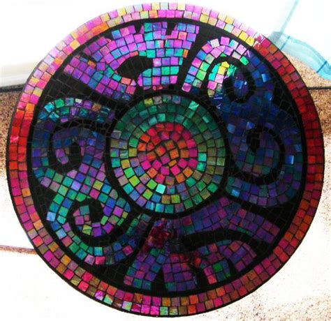 pattern for mosaic table you have to see mosaic tile table mexican symbol on craftsy