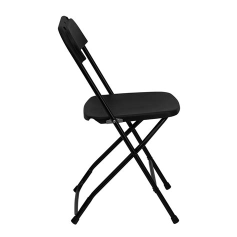 Black Plastic Folding Chairs by Hercules Series 800 Lb Capacity Premium Black Plastic