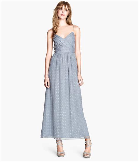 Hm Dress lyst h m dress in blue