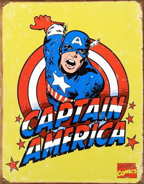 Captain America Vintage 14 vintage captain america tin signs metal signs sold at