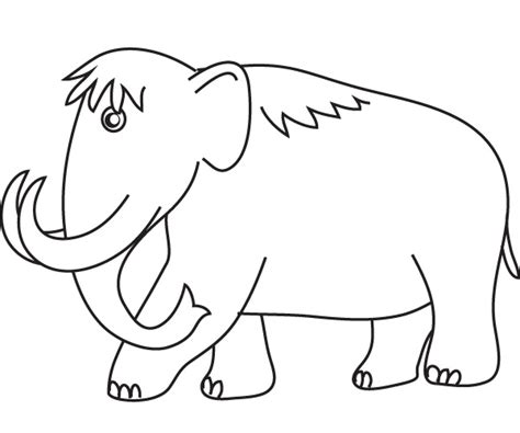 wooly mammoth coloring page coloring free coloring pages