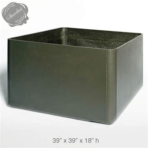 Square Outdoor Planters Large by Mid Century Modern Pots And Planters Square Low Planter 18 Quot H Stardust