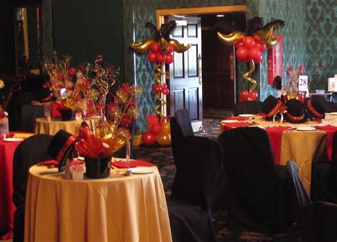 red black and gold decoration     columns created to