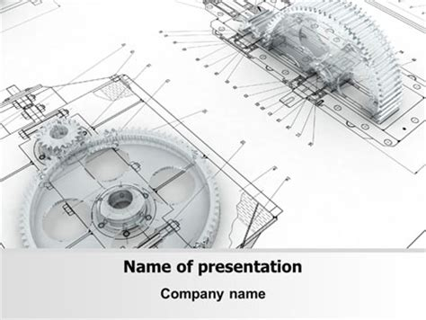 Engineering Drawing Powerpoint Template Backgrounds 08114 Poweredtemplate Com Engineering Powerpoint Templates Free