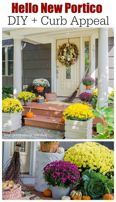 how to add curb appeal with a portico four generations one roof 17 best images about split entry renovations put a porch