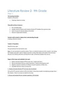 Review Search Literature Review Lesson Plan