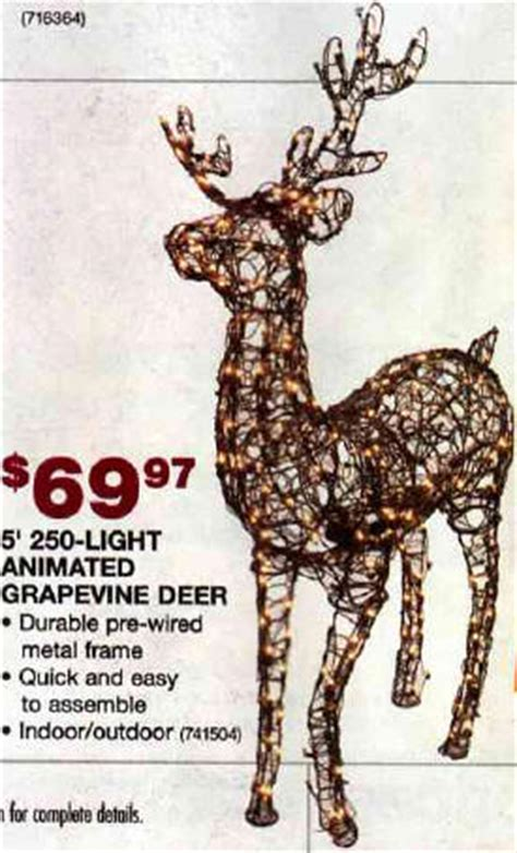 grapevine animated lighted deer black friday deal home accents 5 ft animated grapevine standing deer with 250 clear