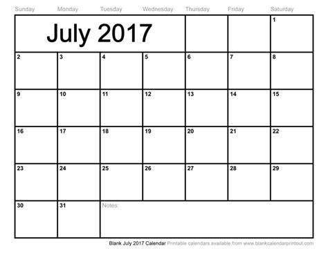 printable calendar 2017 july july 2017 calendar printable templates printable