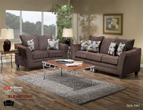 chocolate fabric modern loveseat sofa set w options