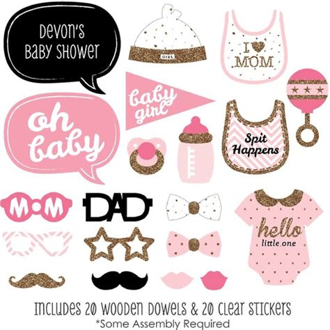 Baby Shower Photo Booth Ideas by Bol Babyshower Meisje Photobooth Prop Set