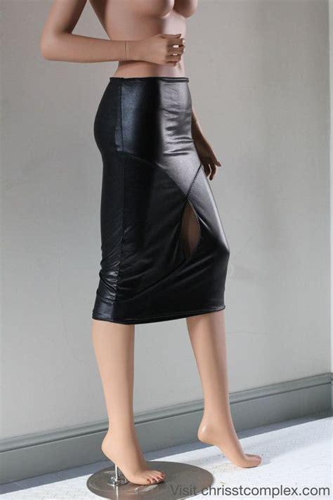 pencil skirt pvc black chrisst black pvc in by