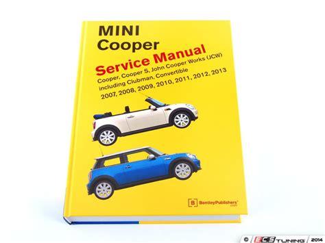 service and repair manuals 2012 mini cooper clubman regenerative braking ecs news bentley service manuals scan tools mini r56 r59