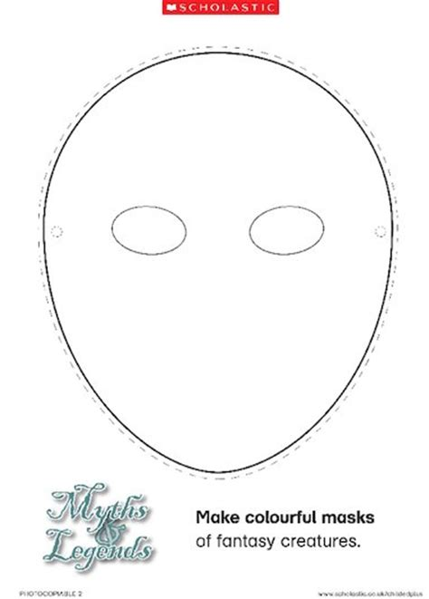 mask template pdf mask template primary ks1 teaching resource scholastic