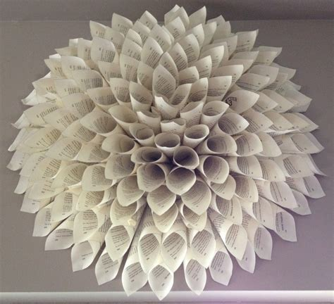 How To Make Paper Sculptures At Home - 3d paper flower wall collection and sculptures