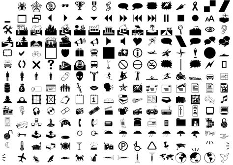tree symbol font webdings