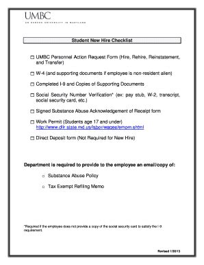 umbc new hire packet fill online printable fillable