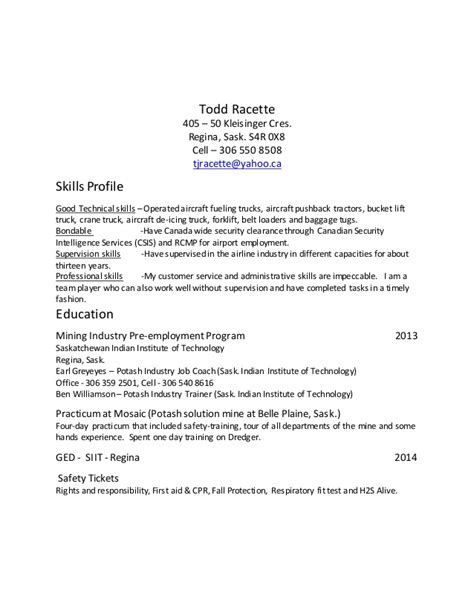 Ged On Resume by Resume With Ged