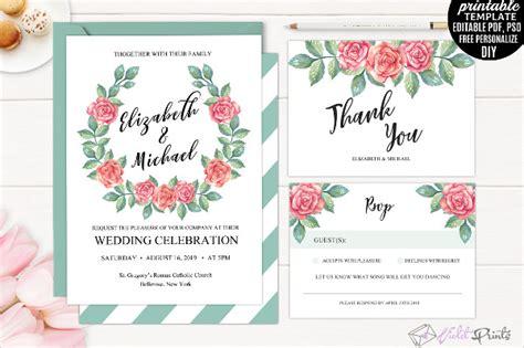 17 tri fold wedding invitation templates free premium