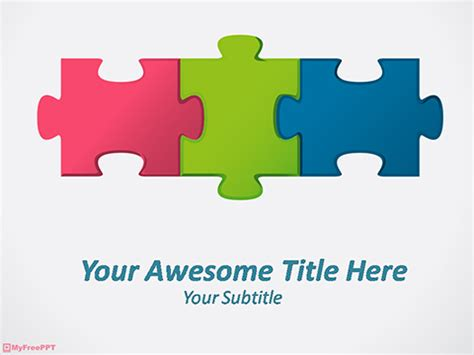 puzzle powerpoint template free puzzle pieces powerpoint templates myfreeppt