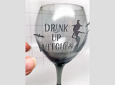 DIY Halloween Wine Glasses with Vinyl | Carla Schauer Designs Hand Painted Wine Glasses Diy