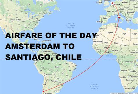 airfare of the day alitalia amsterdam to santiago de chile business class 1648 trip