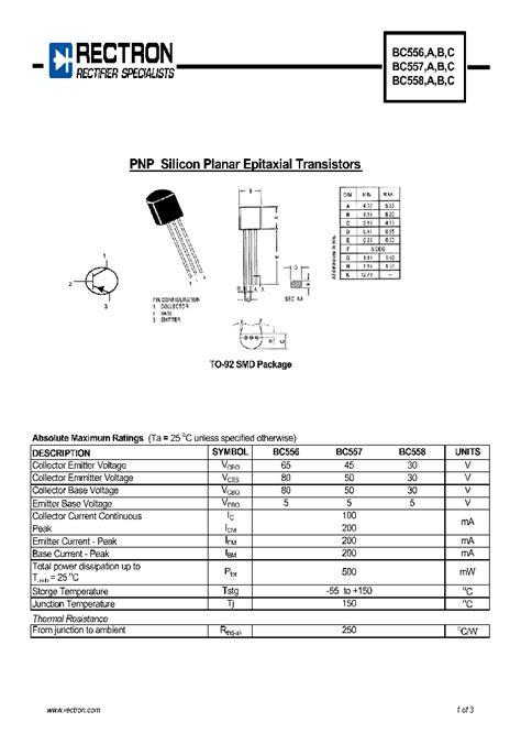 transistor bc557 pin configuration bc557 4562721 pdf datasheet ic on line