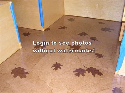 paper bag floor with leaves for the kitchen if i