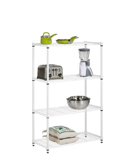 honey can do 4 tier white shelving unit 250lb