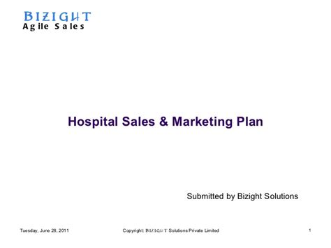 hospital marketing plan template hospital marketing