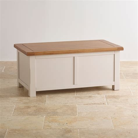 kemble painted blanket box in solid oak oak furniture land