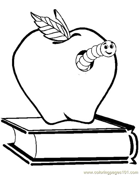 coloring pages of apples with worms coloring pages apple worm insects gt worms free