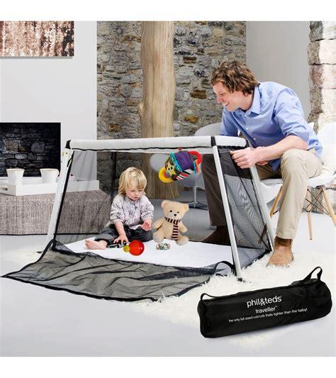 Phil Ted Travel Crib by Phil Teds Traveller Cot Crib V3 Black