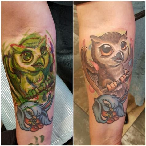 halo tattoo artist lil owl by halo tattoonow