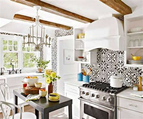 black and white tile kitchen ideas tile backsplash ideas for behind the range small