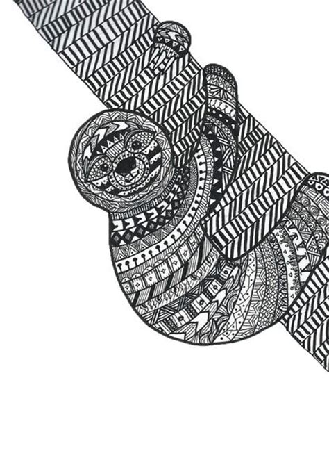a hilarious sloth coloring book for adults and books zentangle sloth print products and sloths
