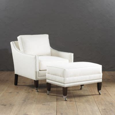 bedroom griffin club chair and ottoman with pewter