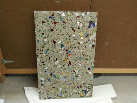 How To Make Recycled Glass Countertops by Concrete Countertop Using Recycled Glass Crafturgy