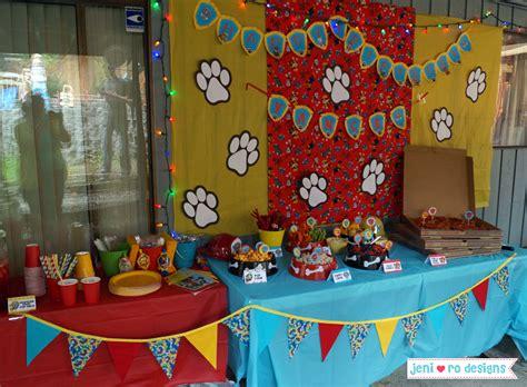 paw patrol table ideas v paw patrol bday food tables jeni ro designs santis