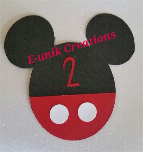 Mickey Mouse Handmade Invitations - items similar to mickey mouse invitations handmade