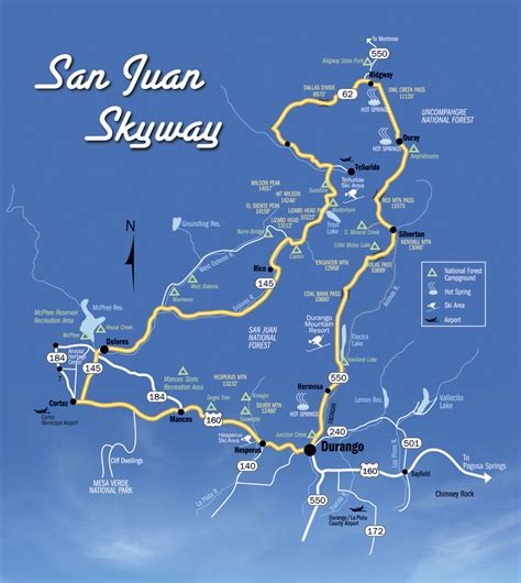 San Juan Skyway san juan skyway mapofficial tourism site of durango colorado