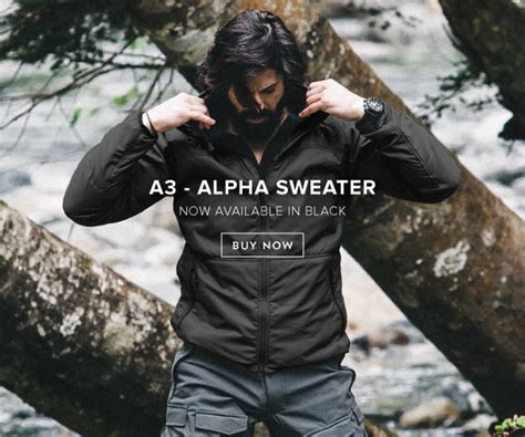 Sweater Alpha Team beyond clothing alpha sweater now in black