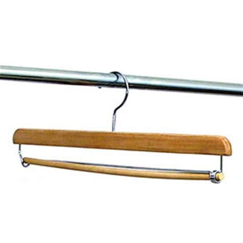 Hanger Setelan 16 Inchi 16 inch locking trouser hangers set of 6 in wood hangers